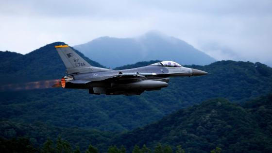 F-16 Fighting Falcon from the 80th Fighter Squadron wallpaper