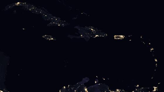 Caribbean Night Lights 2016 wallpaper
