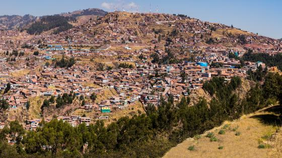 Panoramic View of the City of Cusco, Peru wallpaper
