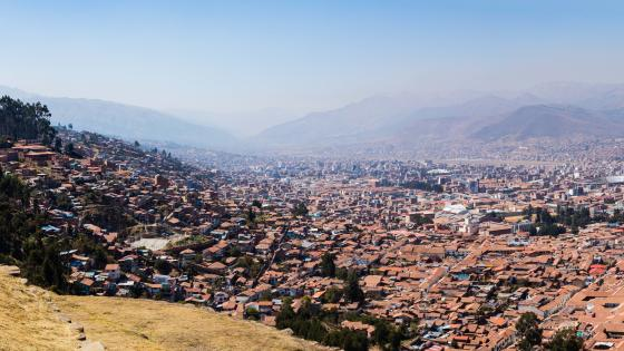 Cityscape of Cusco, Peru wallpaper