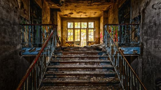 Abandoned Stairs wallpaper