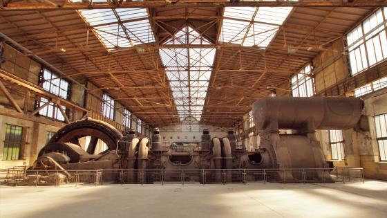 Compressor in the steel mill wallpaper