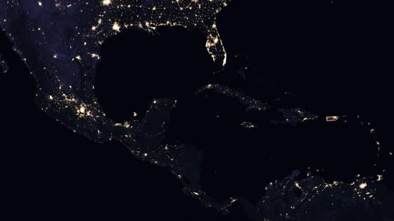 Central America's Night Lights 2016 wallpaper