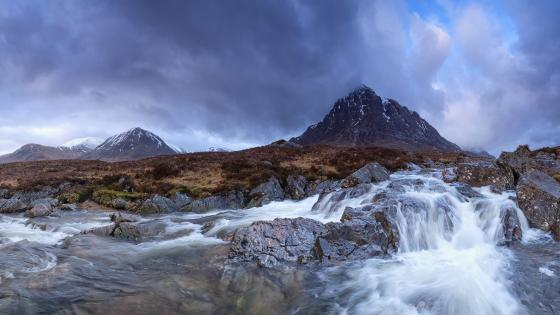 Buachaille Etive Mòr Waterfalls wallpaper