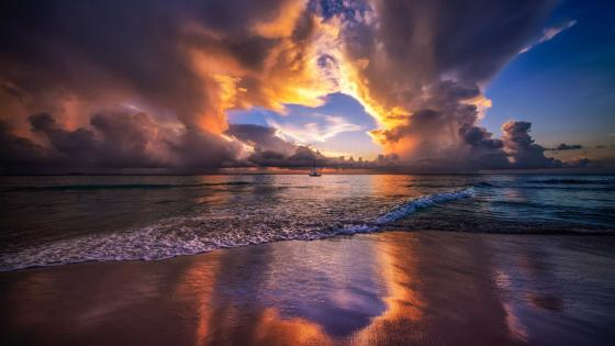 Caribbean sunset wallpaper