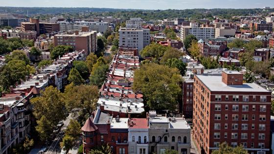 Looking West from the Top of The Cairo in Washington, D.C. wallpaper