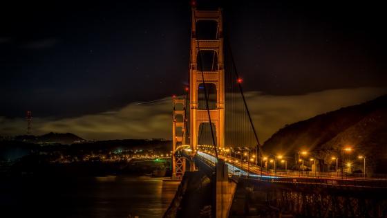 Golden Gate Bridge by night wallpaper