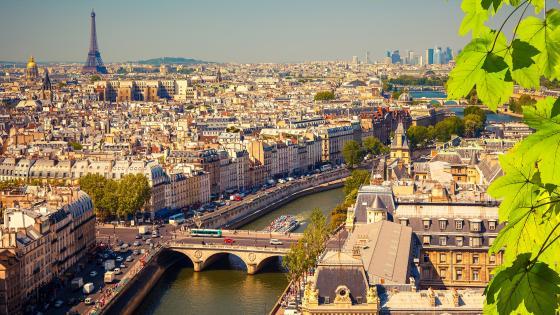 Paris skyline wallpaper