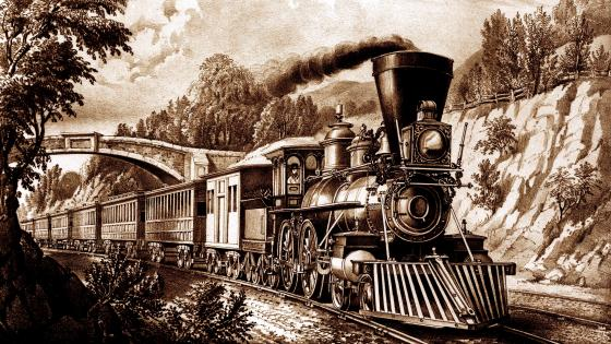 Vintage Locomotive wallpaper