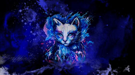 Fantasy cat wallpaper