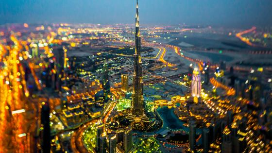 Burj Khalifa by night wallpaper