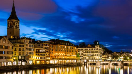 Zurich, Limmat River wallpaper