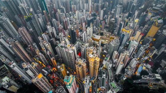 Hong Kong from above wallpaper