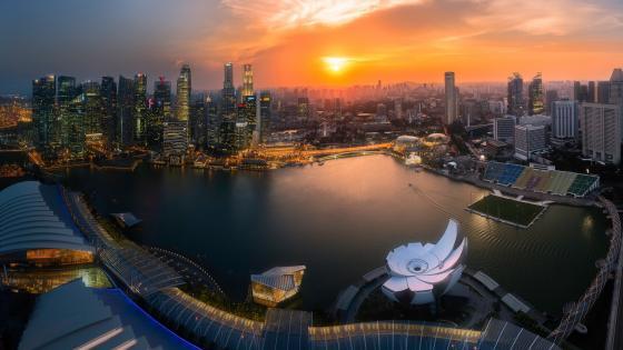 Singapore sunset wallpaper