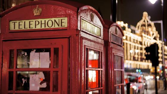 London  phone booth wallpaper