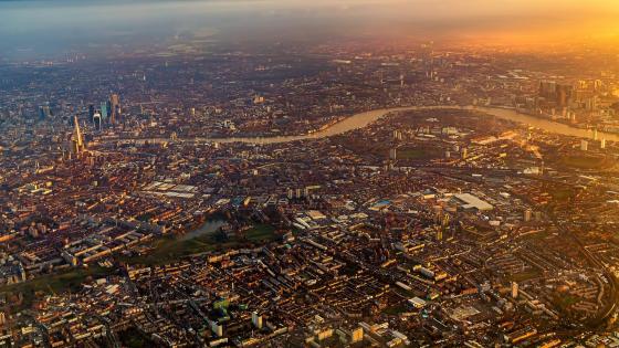 London sunrise from above wallpaper