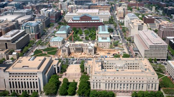 Aerial View of Judiciary Square wallpaper