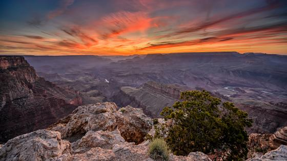Sunset from Lipan point (Grand Canyon) wallpaper
