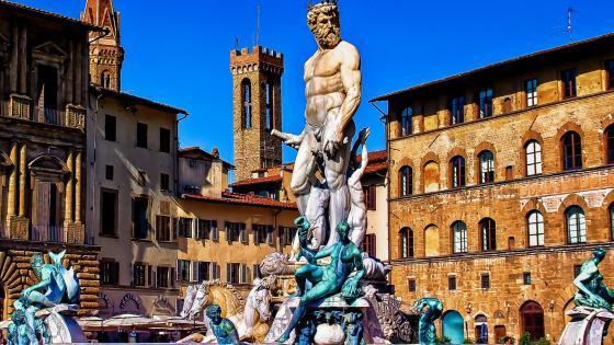 Fountain of Neptune, Piazza della Signoria wallpaper