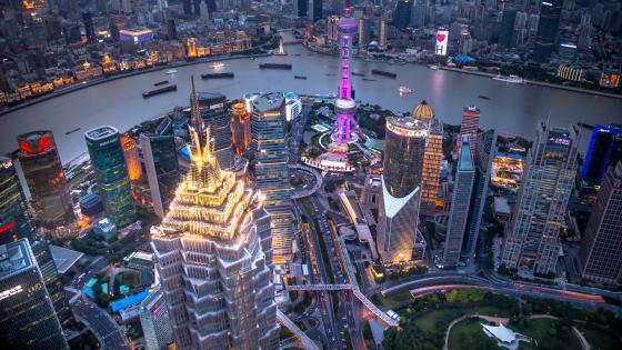 Jin Mao Tower and Shanghai Tower wallpaper