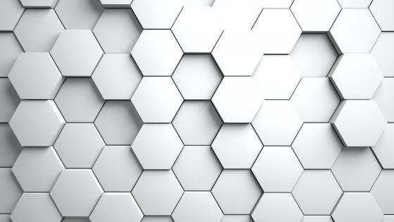3D White Abstract wallpaper