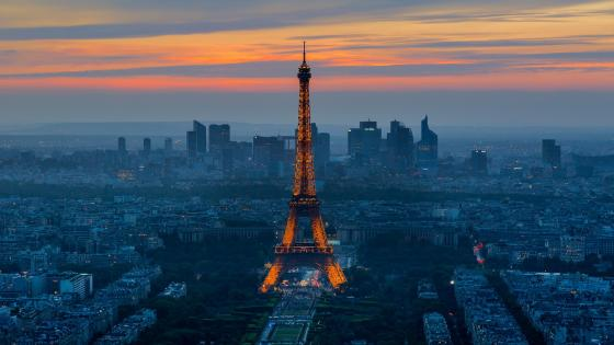 Eiffel Tower and Paris view wallpaper