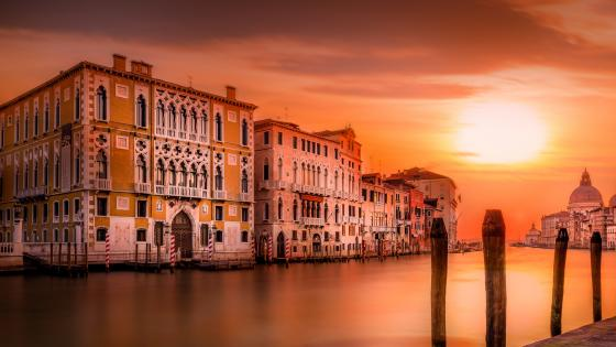 Venice sunset wallpaper