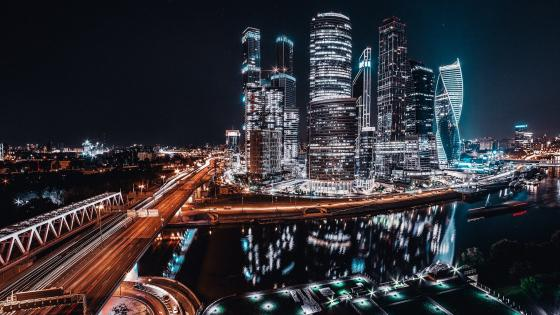 Moscow night wallpaper