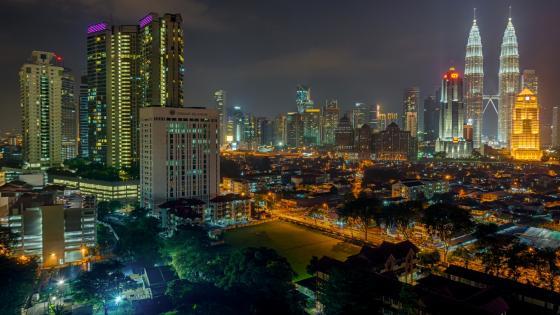 Kuala Lumpur by night wallpaper