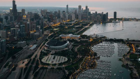Chicago from above wallpaper