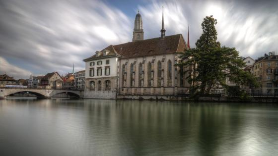 Limmat River, Zurich wallpaper