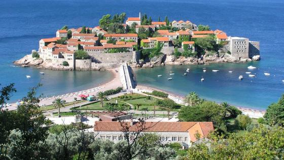 Sveti Stefan island wallpaper