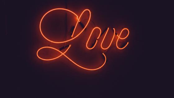 Love neon sign wallpaper