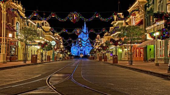 Disneyland at Christmas wallpaper