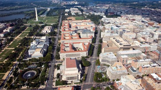 Aerial View of Federal Triangle wallpaper