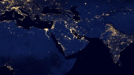 Night Lights of Northern Africa, the Middle east & India v2012 wallpaper