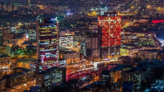Kiev by night wallpaper