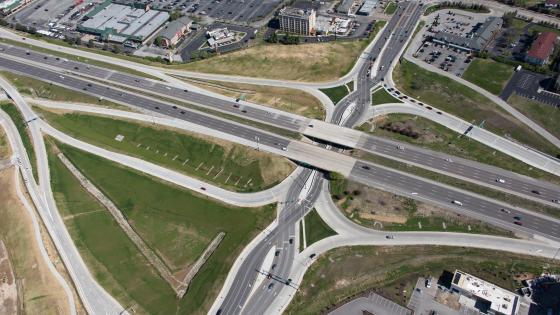 Diverging Diamond Interchange on Interstate 70 in St. Louis, Missouri wallpaper