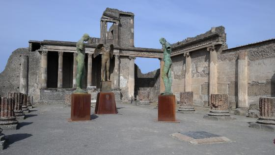 Forum at Pompeii wallpaper
