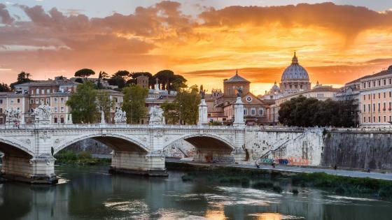 St. Angelo Bridge, Rome, Italy wallpaper
