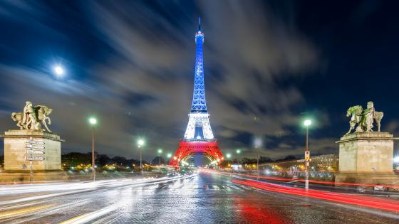 Eiffel Tower in France tricolor wallpaper