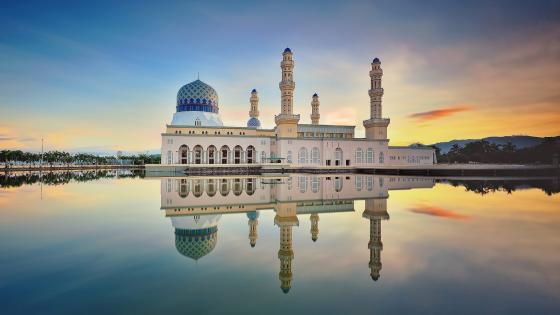 Masjid Bandaraya Kota Kinabalu (Kota Kinabalu City Mosque) wallpaper