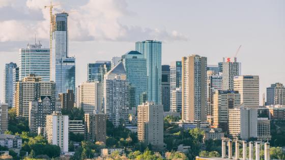 Downtown Edmontonn Skyline wallpaper
