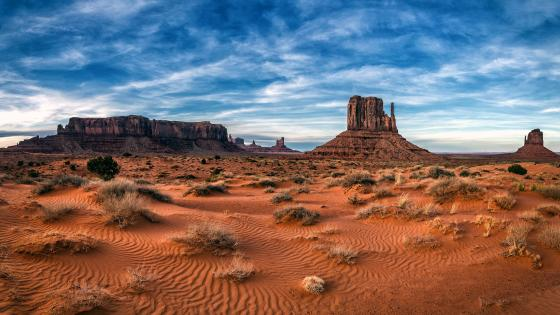 West Mitten Butte In Monument Valley Navajo Tribal Park Arizona wallpaper