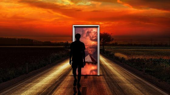Surrealistic Door Imagination wallpaper