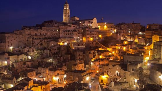 Matera by night wallpaper