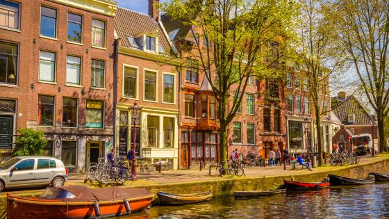 Amsterdam at daytime wallpaper