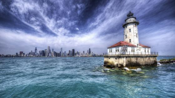 Chicago Harbor Lighthouse wallpaper