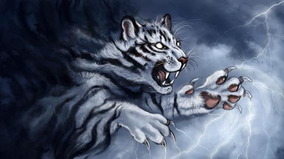 Tiger Grin  Art wallpaper