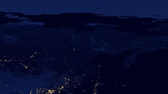 Night Lights of Eastern Russia v2012 wallpaper